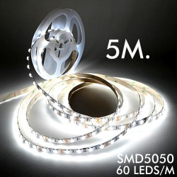 LED Stripe 12V | 60xLED/m | 5m | SMD5050 |960Lm | 14W/M | IP20