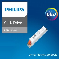 40W Integrated-LED Tri-Proof Light Philips Driver - CCT - 120cm