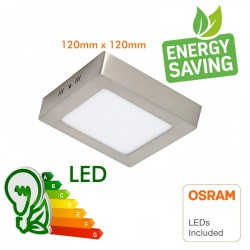 20W 120º circular Square LED ceiling light Stainless Steel - CCT