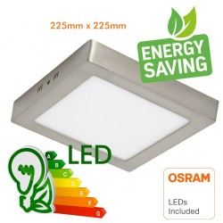 20W LED Ceiling Light - Square Stainless Steel - CCT - OSRAM CHIP DURIS E 2835