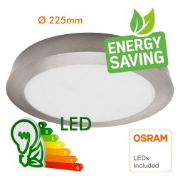 20W LED Ceiling Circular Surface  Stainless Steel - CCT