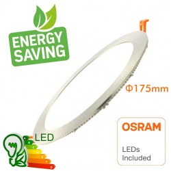 Faretto LED 15W Slim Downlight  LED circolare Acciaio inossidabile - CCT- OSRAM CHIP DURIS E 2835