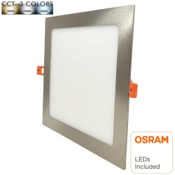 LED Downlight Slim Square 20W Rustfrit Stål - CCT- OSRAM CHIP DURIS E 2835