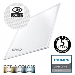 LED Panel 62x62 44W Driver Certa Philips UGR17 - CCT