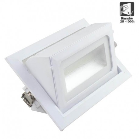 Foco proyector LED 36W orientable rectangular 120º