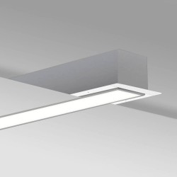 LED Linear luminaire - Recessed -  MOSCOW MINI SILVER- 0.5m - 1m - 1.5m - 2m - IP54
