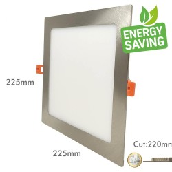 20W LED Square Downlight Slim  Stainless Steel