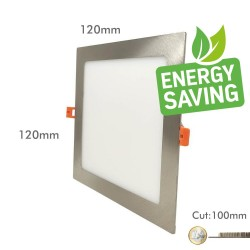 8W LED Square Downlight Slim  Stainless Steel