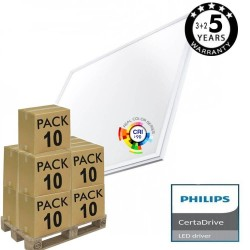 PACK 10 Dalles LED 60x60  44W - Philips Certa Driver