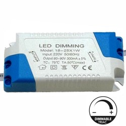 Driver DIMMABLE for LED Lightings 18W a 25W - 300mA - TRIAC