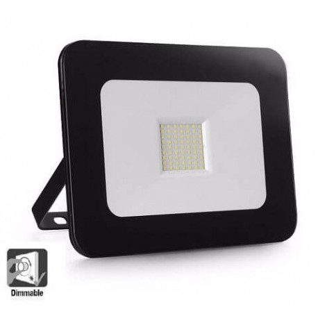 Foco Proyector Exterior LED Luxury 50W Negro 120Lm/W