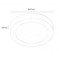 LED ceiling light with circular surface 20W 120º-Interior