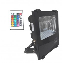 Foco Proyector  Exterior LED 10W RGB  PROFESIONAL