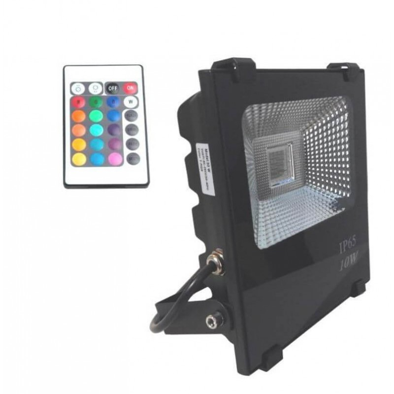 Foco proyector exterior led 10w rgb profesional for Foco led exterior 10w