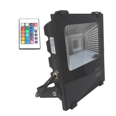 Foco Proyector Exterior LED 30W RGB PROFESIONAL