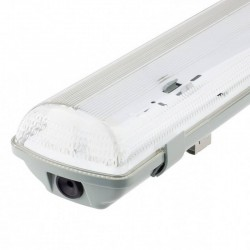 Waterproof screen for two LED tubes IP65  150cm