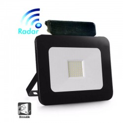LED Outdoor Floodlight  30W LED Luxury RADAR Black