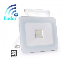 LED Outdoor Floodlight 30W LED Luxury RADAR White