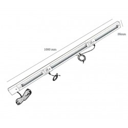 Suspension KIT guide for A1 - A2 - A3 and A4 folders aluminium