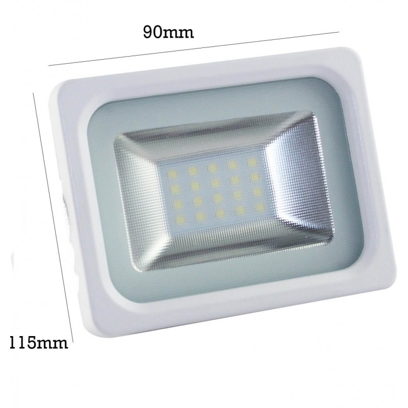 Foco proyector exterior blanco led 10w ip65 elegance 3030 for Foco led exterior 10w