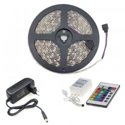 Pack LED Strip 14.4W RGB + Controller + F. Power supply 12V