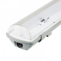 Plafoniera Stagna per due tubi LED IP65 - 60 cm