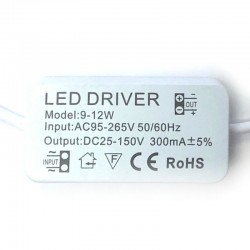 Driver for LED luminaires from 9W to 12W  300mA
