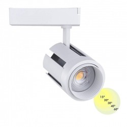 LED TrackLight 40W ALMA Single phase Optica Adjustable 15º to 60º