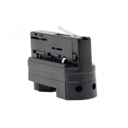 3-PHASE  Connector for rail Black