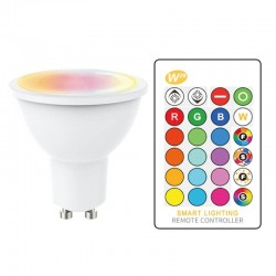 5W Spot LED GU10 RGB with Remote Control