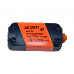 Driver for LED luminaires 8W 300mA