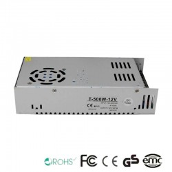 Power supply 12V 500W - Aluminium IP20