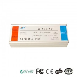 Power supply 12V 100W 4.5 A - Aluminium IP67