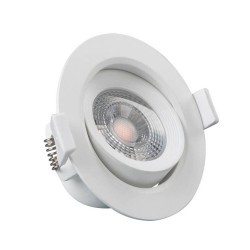 Downlight LED 7W 45 ° rund