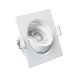 Empotrable LED 7W Cuadrado 45°