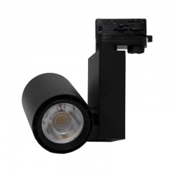 3-PHASE LED Tracklight 40W BERLIN Black 24º   CRI +90