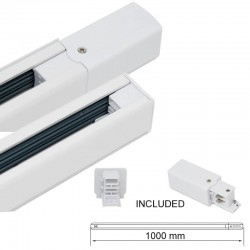3-PHASE Track  Rail White - 1 meter