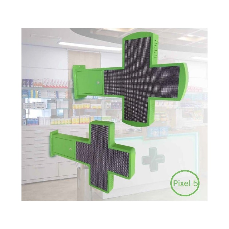 LED screen commercial display Cross Pharmacy RGB Full Color Pixel 5