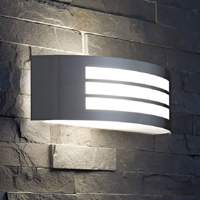 LED METZ Wall Light by E27 Outdoor IP44