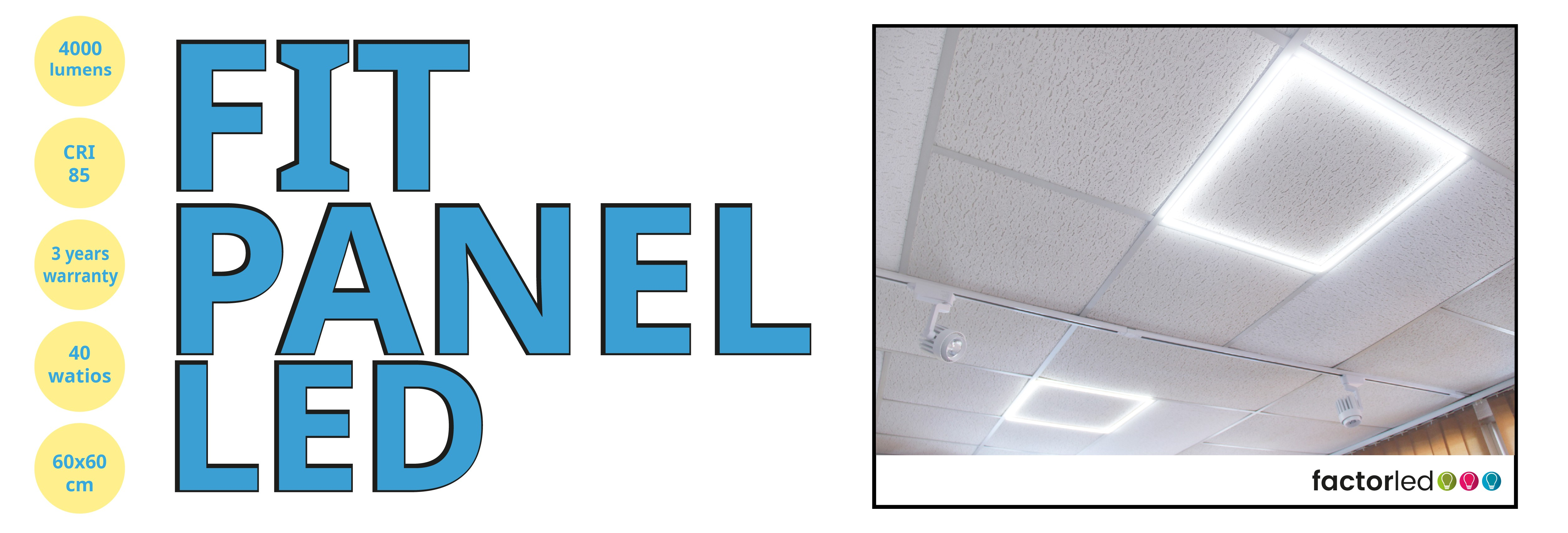 ¡New Fit Panel Bright frame! 60x60 40w